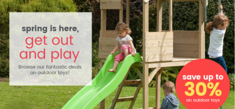 Spring is here, get out and play - browse Uber Kids fantastic deals on outdoor toys!