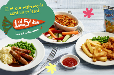 KIDS MEAL DEAL - 3-courses + a Drink ONLY £5.99!