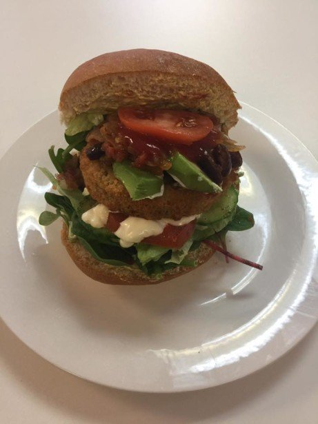 Try our ever so tasty Bean Burgers with Avocado and Chilli onion relish.