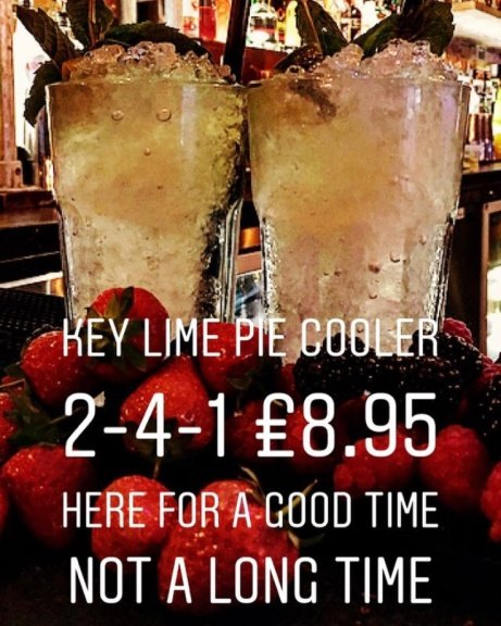 Cocktail of the week - The Key Lime Pie, 2-4-1 just £8.95!