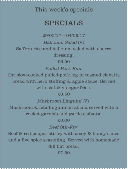 This Week's Specials - 29/05/17 – 04/06/17