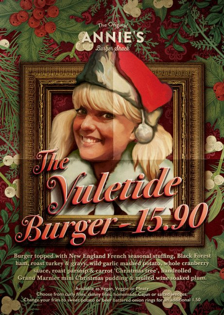 "Annie's Christmas special ""The Yuletide"" burger is back for 2017 and available now!"