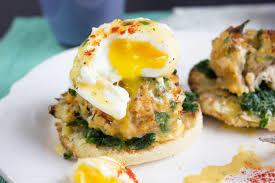 New England Breakfasts - Atlantic Crabcake Benedict £7.50