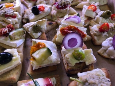 Come and check out our small tasty canapes!