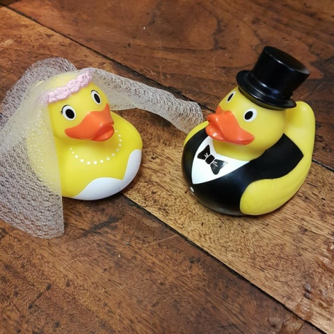 BRIDE AND GROOM RUBBER DUCK SET £10.00
