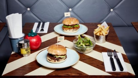 LUNCH AT Gourmet Burger Kitchen! 4oz Burger & Side - ONLY £5.95