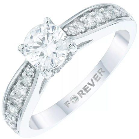 SAVE £2500 on this 18ct White Gold 1ct Forever Diamond Ring!