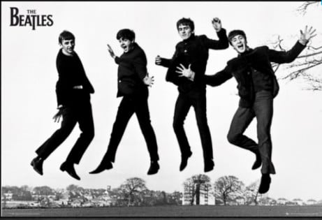THE BEATLES JUMP 2 FRAMED MAXI POSTER - SAVE £6.00!