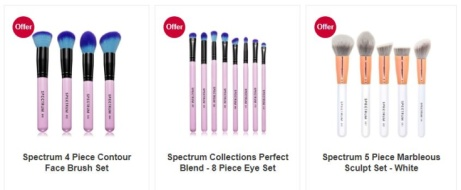 SAVE 20% on Spectrum makeup brushes!