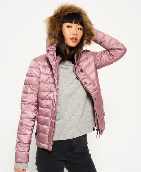 SALE - Luxe Fuji Double Zip Hooded Jacket: SAVE £27.00!