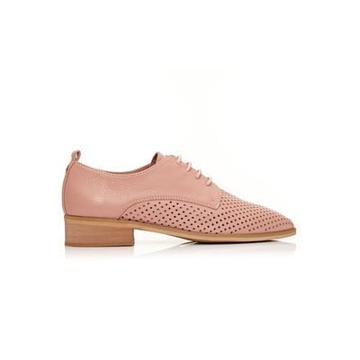 MODA IN PELLE FOLITA LASER CUT OUT BROGUES - NUDE   £59.45 was £69.95