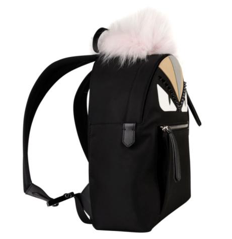 OVER £500 OFF - FENDI Fur Trim Monster Eyes Backpack!