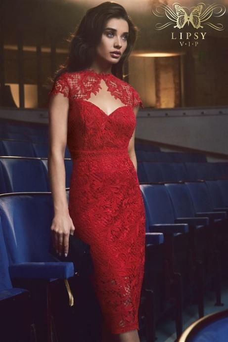 SAVE 50% OFF Lipsy VIP Sweetheart Neck Midi Dress!