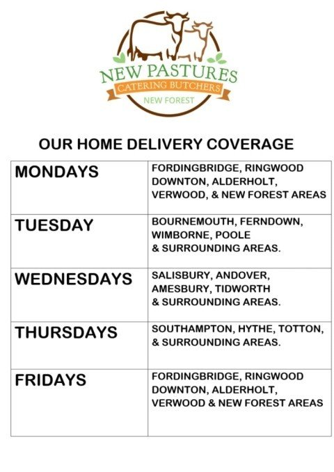 We're a family run butchers serving you - here is where we're delivering...