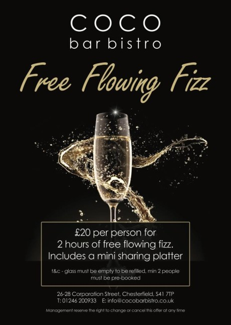 Free Flowing Fizz!! for only £20 per person