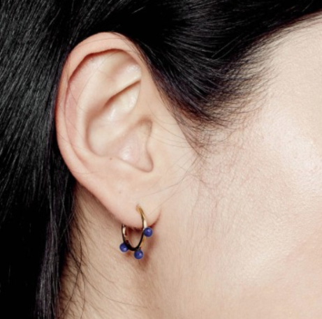 Lapis Hazel Hoop Earrings: £95.00!