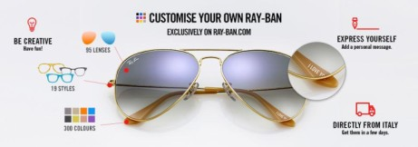 Create your own Ray-ban today and get a special package free!