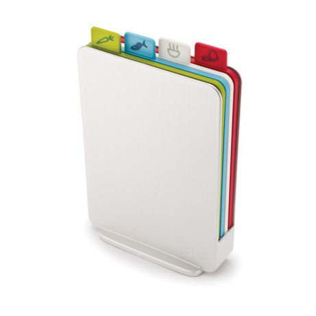 SAVE 50% OFF Joseph Joseph - Set of 4 white 'Index™' compact chopping boards!