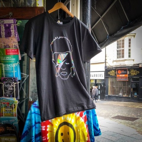 Holographic Bowie T-Sshirts now in stock!