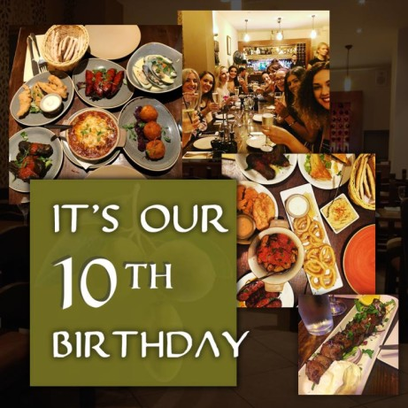 Wednesday 14th March marks 10 years since we've been serving delicious Mediterranean meze and tapas