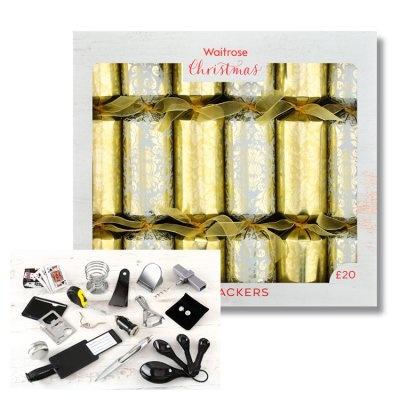 NEW CHRISTMAS DECOR - Waitrose Gold Demask Crackers £20.00!