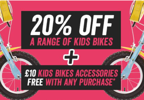 SAVE up to 20% on Kid's Bikes at Halfords!