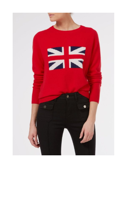 Shop our Donna Ida Iconic Brit Cashmere Knit – Love That Red Jumper!