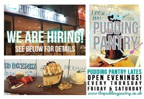 We need a Part Time Baker here at Pudding Pantry - Click for more information!