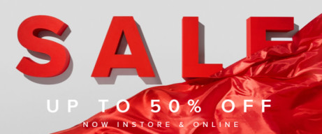 SALE NOW ON! Save up to 50%