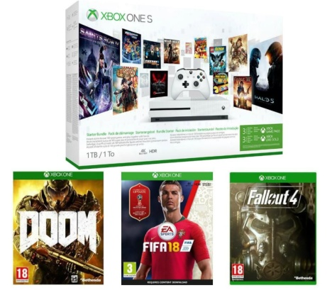 SAVE OVER 25% OFF MICROSOFT Xbox One S with Games and 3-Month Game Pass!!