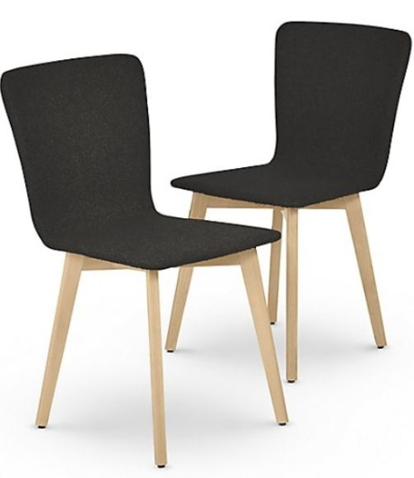 SAVE 50% OFF 2 Set of Brook Charcoal Light Dining Chairs!