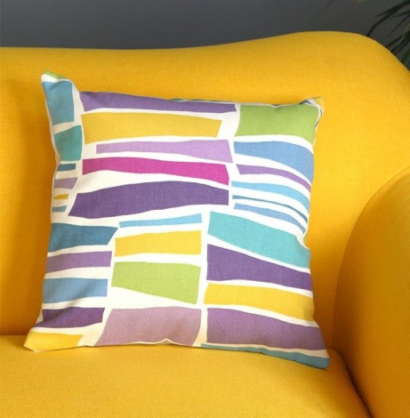 £14.95 - Abstract design cushion in Milla Sanderson fabric!
