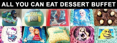 Join us for our all-you-can-eat desert buffet - Yummy!