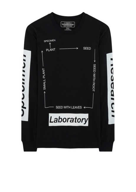SAVE £23.00 - Neighborhood SS18 SRL Roots Long Sleeve C-Tee in Black!