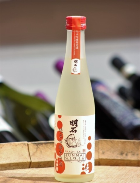 Try Junmai Ginjo Akashi-Tai, Sparkling Sake for just £14.95 each!