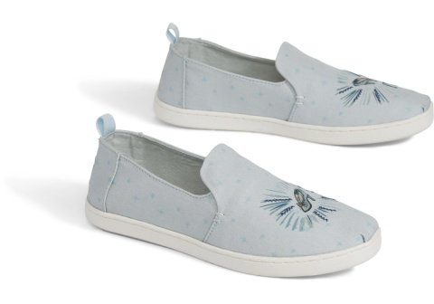 Disney X TOMS Blue Cinderella Glass Slipper Women's Deconstructed Alpargatas - £58.00!