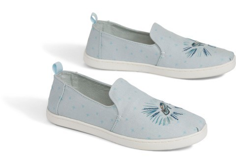 Disney X TOMS Blue Cinderella Glass Slipper Women's Deconstructed Alpargatas - £58.00!