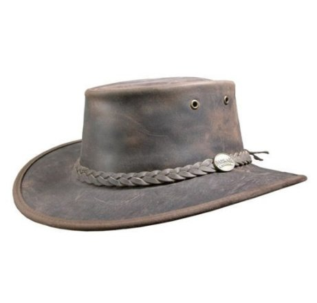 Get this Barmah Bronco Foldaway Leather Outback Hat