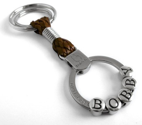 This Personalised leather Bagnara keyrings is a great gift