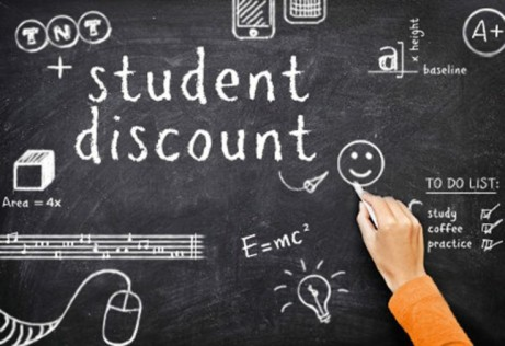 50% off selected food for Students. Mon-Fri.