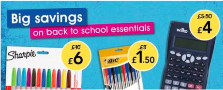 SAVE on Back to School Essentials at Wilkos!