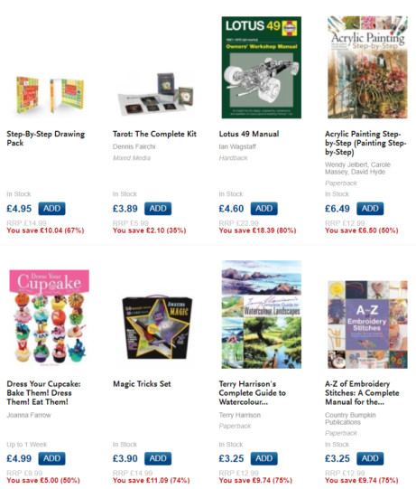 UP TO HALF PRICE PUZZLE AND HOBBY BOOKS - AVAILABLE ONLINE