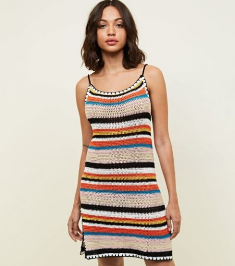 NEW IN - Multi Colour Stripe Crochet Slip Dress: £24.99!