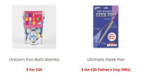 3 for £20 on Gifts - SAVE up to 56%!