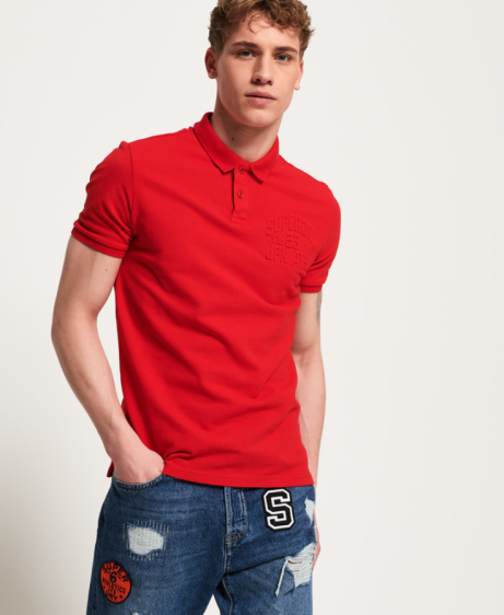 SAVE 33% OFF Embossed Short Sleeve Polo Shirt!