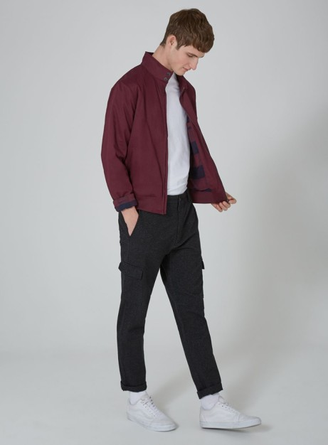 Up to 50% OFF Selected Lines - Including Burgundy Harrington Jacket: Save £15.00!