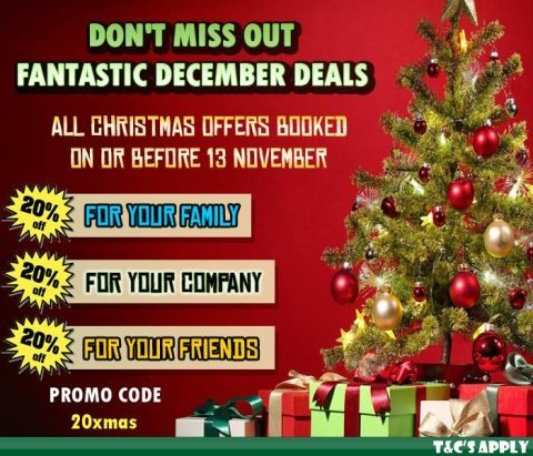 Last chance to GET 20% OFF Christmas & New Year Offers