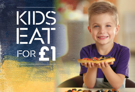 KIDS EAT FOR £1 - All Easter Holidays!