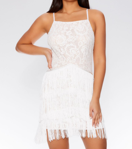 25% OFF - Lace Fringe Bodycon Dress!
