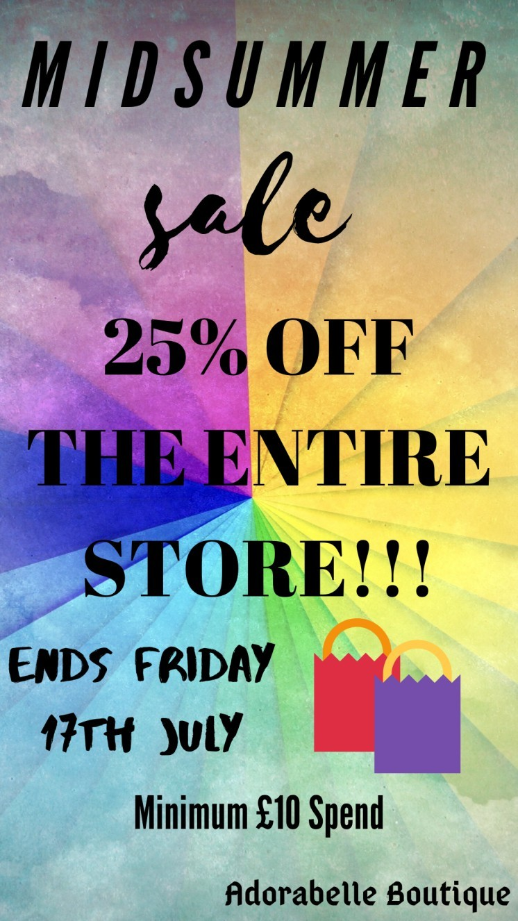 25% OFF THE ENTIRE STORE